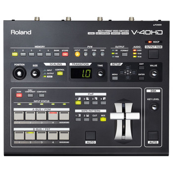 ROLAND V-40HD Multi-Format Video Switcher - 4 channel, top view
