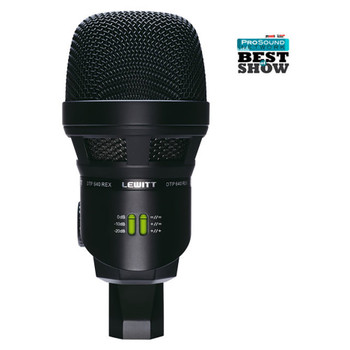 LEWITT DTP 640 REX Dual-Capsule Kick Drum Microphone with Twin Dynamic & Cardioid Output - Front