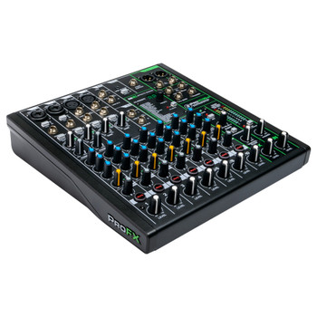 MACKIE ProFX10v3 10 Channel Professional Effects Mixer with USB left angle view
