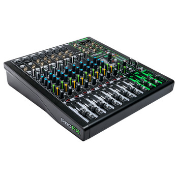 MACKIE ProFX12v3 12 Channel Professional Effects Mixer with USB angle view