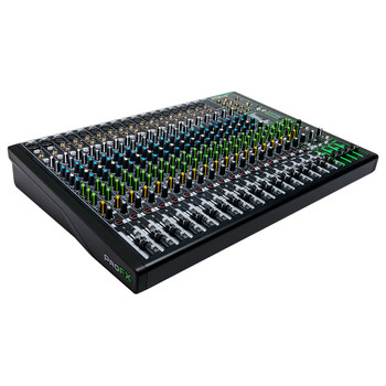 MACKIE ProFX22v3 22 Channel 4-bus Professional Effects Mixer with USB left angle