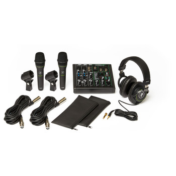 MACKIE Performer Bundle - ProFX6v3 Effects Mixer with USB, Two EM-89D Dynamic Mics and MC-100 Headphones