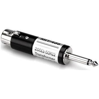 hosa-mit-435-XLRF-TO-QUARTER-INCH-TS-IMPEDANCE-TRANSFORMER-LEFT-SIDE-VIEW
