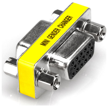 HOSA-VGA-COUPLER-FOR-VGA-DATA-CABLES-VIDEO-COUPLER-TOP-LEFT-VIEW