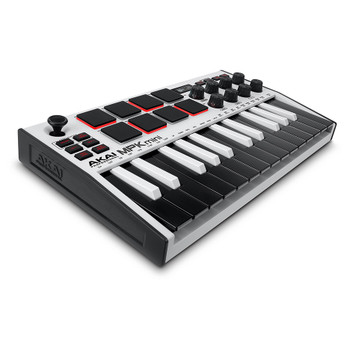 AKAI MPK Mini Mk3 WHITE SE angle view