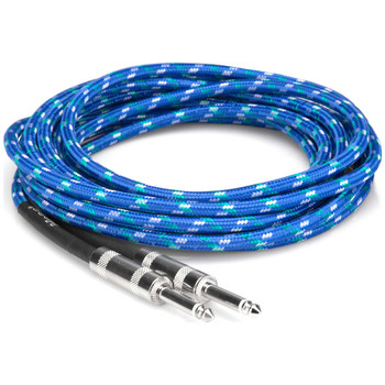 hosa-3gt-18c2-quarter-inch-guitar-cable-top-coil-view