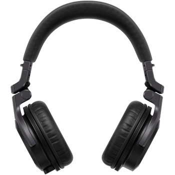 pioneer-hdj-cue-headphones-wired-black-silver-front