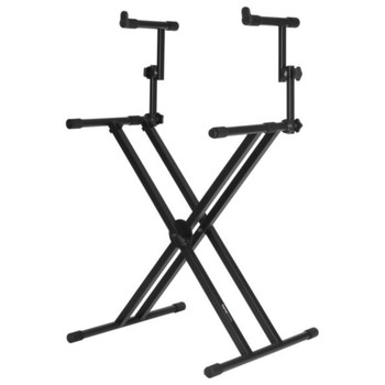 """Gator Frameworks GFW-KEY-5100X Deluxe 2 Tier """"X"""" Style Keyboard Stand  - Quick Shipping Available"""