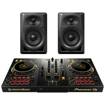 PIONEER DDJ 400 N/PXJ GOLD DJ Controller and PIONEER DJ DM 40 desktop monitors. EMI Audio