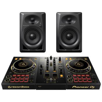 PIONEER DDJ 400 N/PXJ GOLD DJ Controller and PIONEER DJ DM 40 desktop monitors. EMI Audio