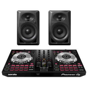 PIONEER DJ DDJ SB3-DJ Controller and PIONEER DJ DM-40 desktop monitors. EMI Audio