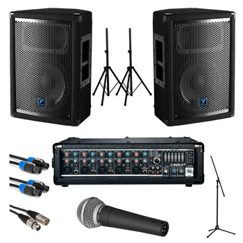 Yorkville Small Crowd Passive PA System Starter Bundle. EMI Audio