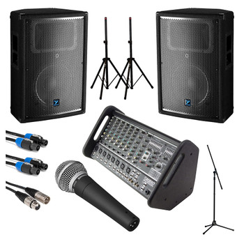 Yorkville Medium Crowd Passive PA System Starter Bundle. EMI Audio