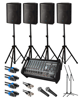 Yorkville Large Crowd Passive PA System Starter Bundle. EMI Audio