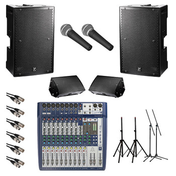 Yorkville Powered PA System Band Bundle. EMI Audio