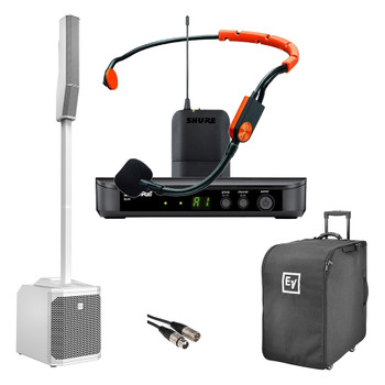 Electro-Voice Small Portable Presenter Package - White Speaker. EMI Audio