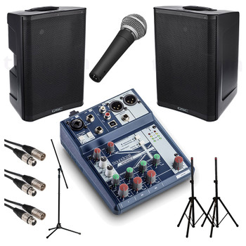 QSC Small Crowd Powered PA System Starter Bundle.EMI Audio