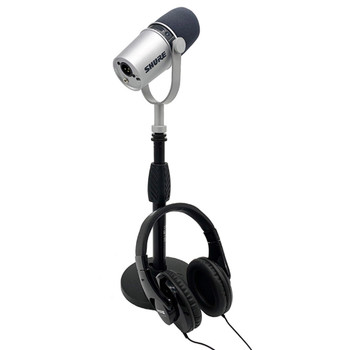 Shure MV7 Silver Standard Podcast Bundle. EMI Audio