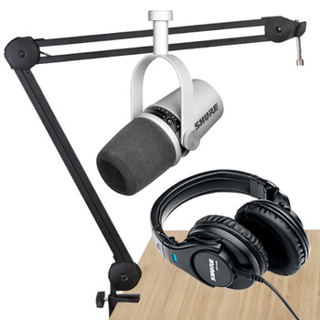 Shure MV7 Silver Advanced Podcast Bundle-2.EMI Audio