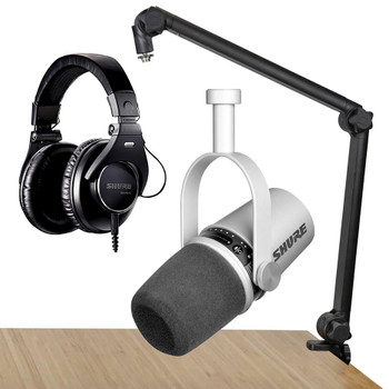 Shure MV7 SIlver Professional Podcast Bundle-3. EMI Audio
