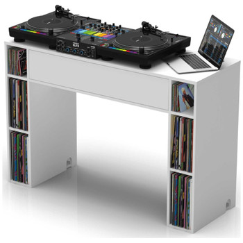 Glorious-Modular-Mix-Station-White-DJ-Table-with-Extra-Storage-Angle-EMI-Audio