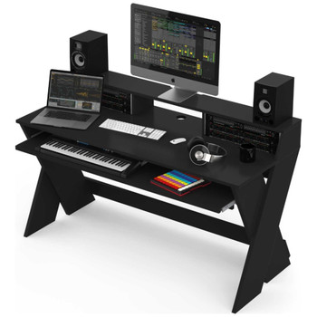 Glorious-Sound-Desk-Pro-Black-Complete-DJ-Studio-Desk-Angle-EMI-Audio