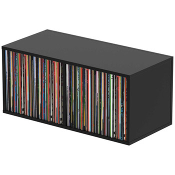 """Glorious-Record-Box-230-Black-Stackable-Record-Storage-Box-for-up-to-230-12""""-Records-EMI-Audio"""