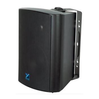 "Yorkville C130B Coliseum Mini Series black 6.5"" 100W wall mount Loudspeaker front view"
