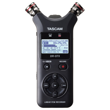 DR-07X Stereo Handheld Digital Audio Recorder and USB Audio Interface top view EMI Audio