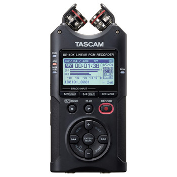 DR-40X Versatile four-track audio recorder and USB Audio Interface front view EMI Audio