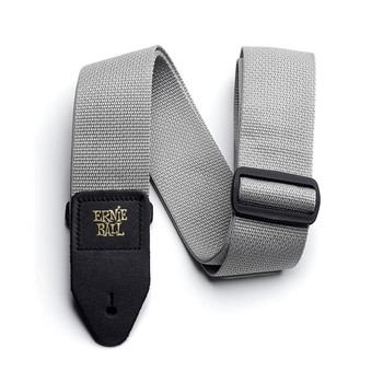 ERNIE-BALL-GRAY-POLYPRO-GUITAR-STRAP-OVERVIEW