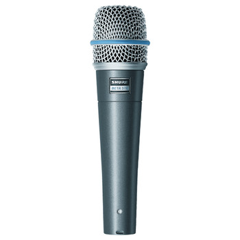 SHURE-BETA-57A-Supercardioid Dynamic-mic-front-view. EMI Audio