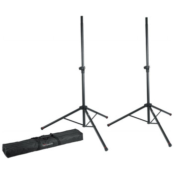 GATOR FRAMEWORKS GFW-SPK-2000SET TWO SPEAKER STANDS WITH BAG - Quick Shipping Available