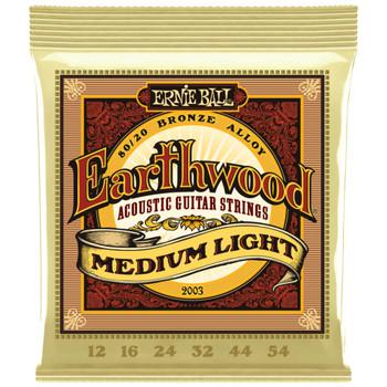 ERNIE-BALL-EARTHWOOD-MEDIUM-LIGHT-BRONZE-ACOUSTIC-GUITAR STRINGS-12-54-GAUGE