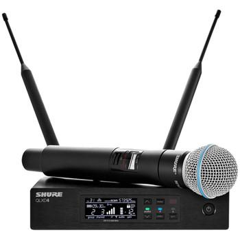 Shure-QLXD4-Beta58-Wireless-microphone