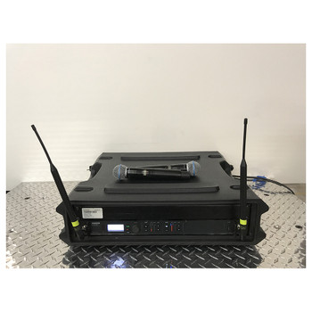 Shure ULX-D 2 channel wireless system with Beta 58 front