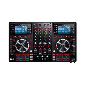 NVII Top down product shot 4 channel 2 platter DJ controller