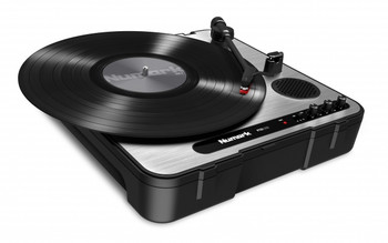 PT01USB Portable record player with built in speaker, pitch control, and can play 33 1/3, 45 and 78 RPM records