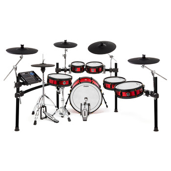 Alesis Strike Pro SE Eleven-Piece Professional Electronic Drum Kit with Mesh Heads fully set up