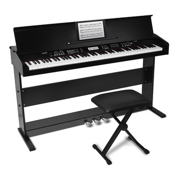 ALESIS Virtue Black 88-key Digital Piano front view. EMI Audio