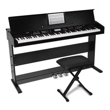 ALESIS Virtue Black 88-key Digital Piano front view. EMI Audio