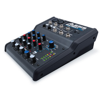 MultiMix 4 USB FX 4-channel USB desktop mixer side view