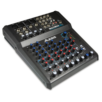 MultiMix 8 USB FX 8-channel USB desktop mixer angled view