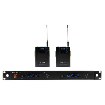 R42 Two Channel Diversity Receiver with Two B60 Bodypack Transmitters