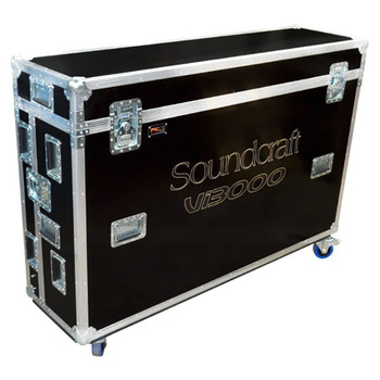 Soundcraft Vi3000 Standard flightcase closed. EMI Audio