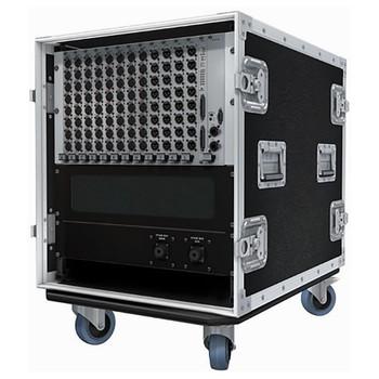 "Soundcraft 12U 19"" custom flight-case for Local Rack / Stagebox EMI Audio"