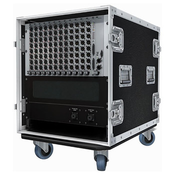 "Soundcraft 12U 19"" custom flight-case for Local Rack / Stagebox EMI Audio"