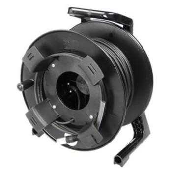 "Soundcraft 50m 50/125 multimode optical fibre with ""Fibrecast"" connectors, supplied on reel EMI Audio"