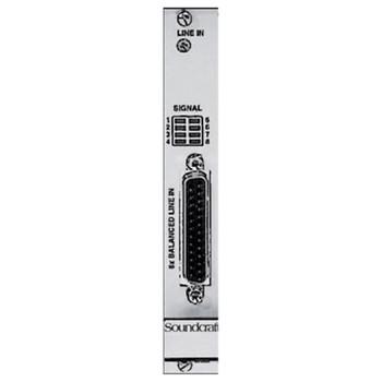 SOUNDCRAFT D21M Local Rack/CSB Line Input card EMI Audio