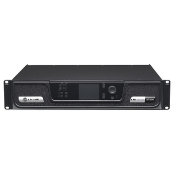 CDi 2|1200 two channel amplifier front top angle view